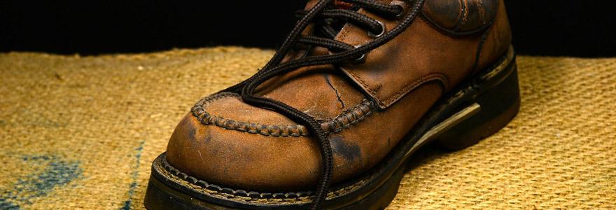 Chaussure de sécurité en cuir